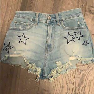 Hollister star shorts